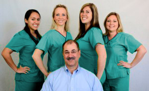 Dr. Yorgey's dental office team photo