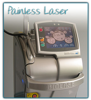 Painless dental laser